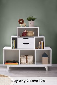 White Compton Tiered Storage Shelves