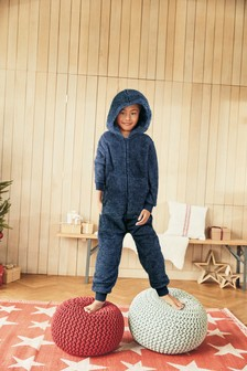 Navy Fleece All-In-One (3-16yrs)