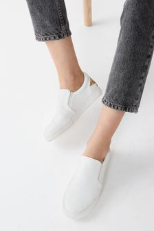 White Regular/Wide Fit Forever Comfort® Slip-On Trainers