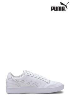 Puma® White Ralph Sampson Lo Perf Lace-Up Trainer