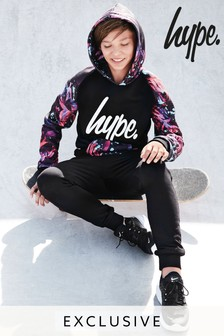 Black  Hype. Drop Crotch Jogger
