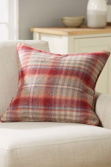 Tweedy Cranford Check Cushion