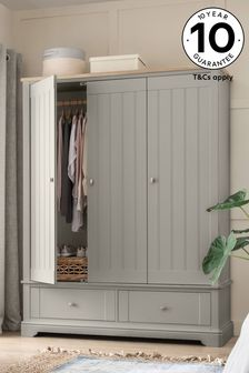 Grey Hampton Triple Wardrobe