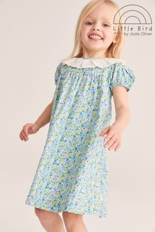 Little Bird Ditsy Frill Collar Dress