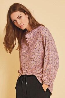Lilac Ditsy Tunic Shirt