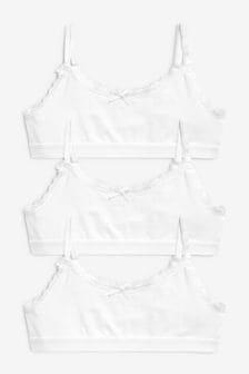 68944e4fa774a3 White Crop Tops Three Pack (Older)