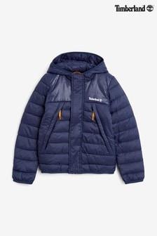 Timberland Navy Logo Packable Windbreaker Jacket