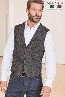 Grey Nova Fides Wool Blend Waistcoat