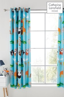 Animal Adventure Lined Eyelet Curtains by Catherine Lansfield