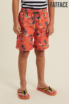 FatFace Lobster Resort Print Boardie Swim Shorts