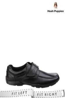 Hush Puppies Black Freddy 2 Junior School Shoes