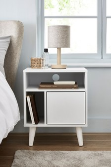 White Gloss Multi Bedside