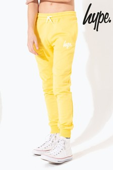 Hype. Yellow Hype Script Kids Joggers