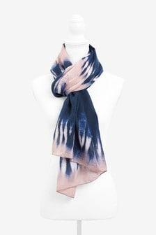 Pink/Blue Tie Dye Lightweight Scarf