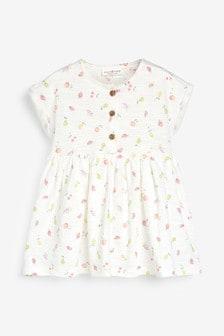 Ecru Fruit Print Jersey Dress (0mths-2yrs)