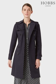 Hobbs Blue Saskia Trench Coat