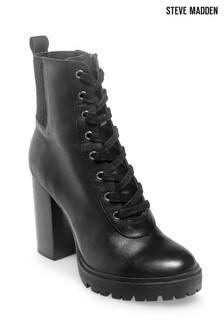 Steve Madden Black Latch Boots
