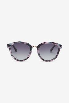 MIlky Tortoiseshell Effect N.82 Polarised Large Sunglasses