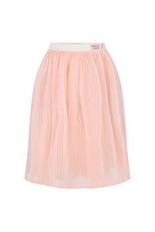 Baby Girls Pink Organza Silk Skirt