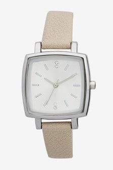Mink Square Case Strap Watch