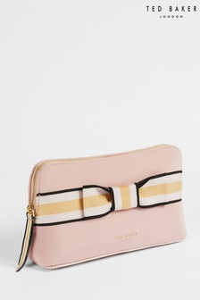 Ted Baker Pink Kadera Branded Webbing Neoprene Make-Up Bag