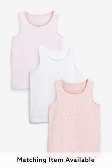 Pink 3 Pack Star Print Vests (1.5-16yrs)