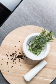 Kitchen Pantry Marble Pestle and Mortar