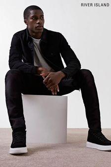 River Island Black Slim Seth Entry Jeans