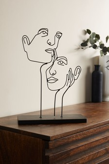 Wire Face Sculpture