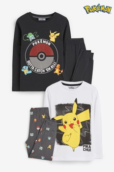 Monochrome 2 Pack Pokémon™ Pyjamas (3-16yrs)