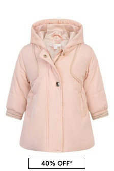 Baby Girls Pink Padded Jacket