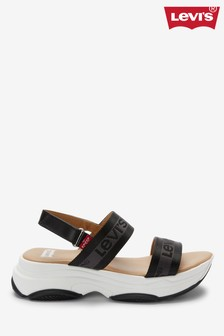 Levi's® Black Platform Sandals