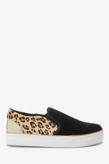 Black Animal Skater Shoes