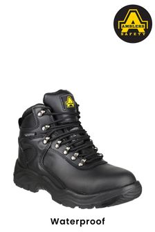 Amblers Safety Black FS218 Waterproof Lace-Up Safety Boots