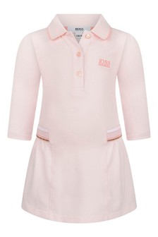 Baby Girls Pink Cotton Pique Polo Dress