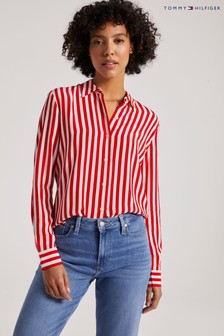 Tommy Hilfiger Red Regular Long Sleeve Blouse