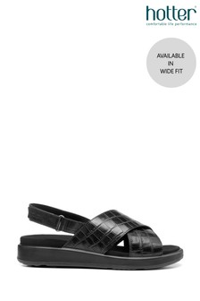 Hotter Pace Wide Fit Touch Fastening Open Sandals