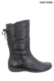 Josef Seibel Black Naly Mid-Calf Boots
