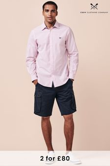Crew Clothing Company Pink Micro Gingham Shirt
