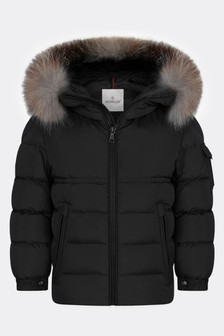 Boys Black Down Padded New Byron Jacket