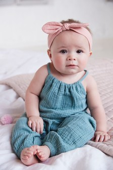 Teal Kids Matching Family Crinkle Romper (0mths-2yrs)