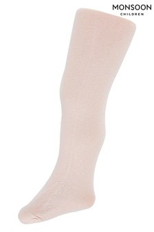 Monsoon Pale Pink Baby Super Sparkle Tights