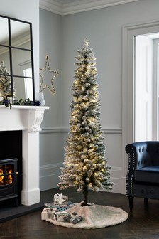 Lit Snowy 6ft Christmas Tree