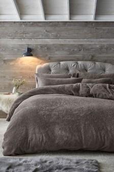 Teddy Fleece Duvet Cover And Pillowcase Set