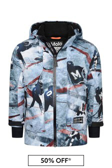 Boys Blue Ice Hockey Ski Jacket