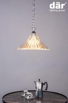 Dar Lighting Silver Angelina 3 Light Flush Pendant