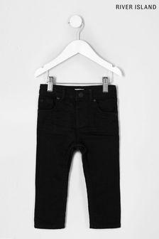 River Island Black Mini Boys Sid Baking Jeans