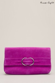Phase Eight Purple Roksanda Clutch Bag