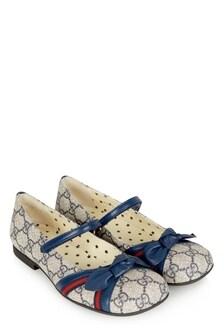 GUCCI Kids Girls Blue Shoes