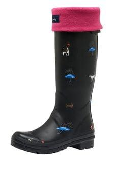 Joules Pink Welton Fleece Welly Liner Socks
